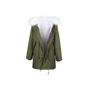 Edgii第三代皮草 芬兰顶级白狐 绿色防泼水防风外壳 一衣三穿 可拆卸毛领 最高充绒量羽绒袖 男女同款